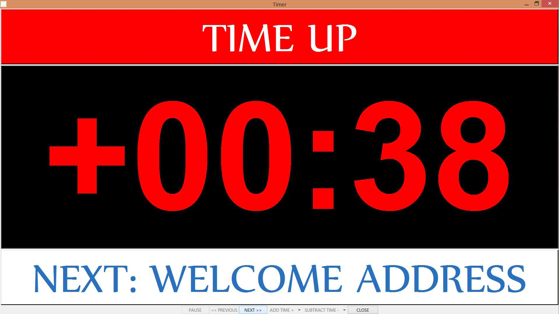 time up display